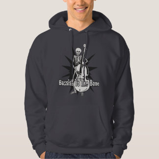 Upright Bass Playing Skeleton Hoodie