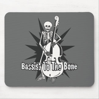 Upright Bass Playing Skeleton Mouse Pad