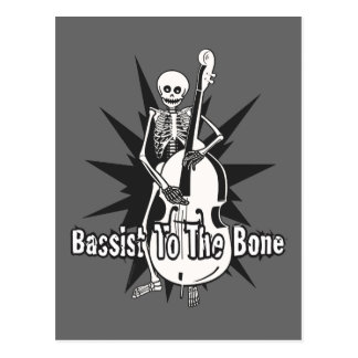 Upright Bass Playing Skeleton Postcard
