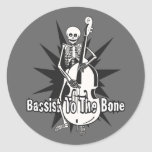 Upright Bass Playing Skeleton Stickers