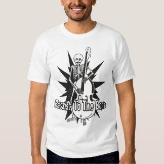 Upright Bass Playing Skeleton T Shirt