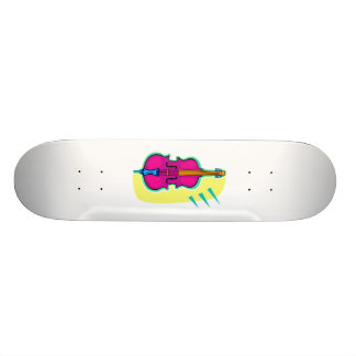 Upright Bass Purple Abstract Graphic Image Skateboard Deck