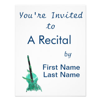 Upright bass two hands aqua version for musician personalized invitations