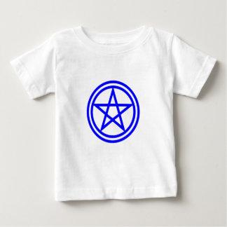 Upright Blue Pentagram Baby T-Shirt