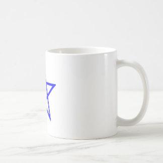 Upright Blue Pentagram Coffee Mug