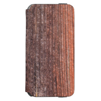 Upright board wall with worn old reddish paint iPhone 6/6s wallet case