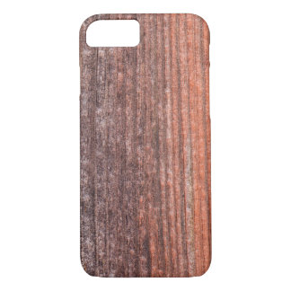 Upright board wall with worn old reddish paint iPhone 8/7 case