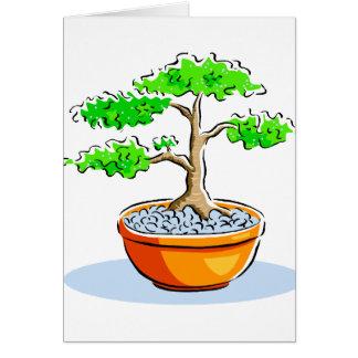 Upright Bonsai Orange Bowl Graphic Image Card