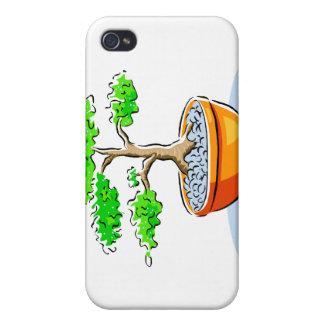 Upright Bonsai Orange Bowl Graphic Image iPhone 4 Case