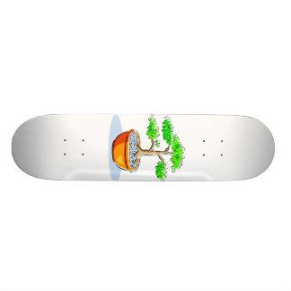 Upright Bonsai Orange Bowl Graphic Image Skate Decks