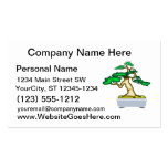 Upright Bonsai Sumo in Grey Pot Graphic Image Business Card