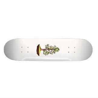 Upright bonsai yellow flowers graphic design custom skateboard