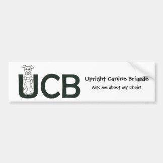 Upright Canine Brigade Bumper Sticker