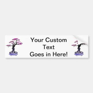 Upright Deadwood Bonsai Purple Car Bumper Sticker