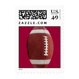 Upright Football Postage Stamps