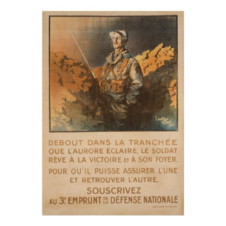 Upright in the Trenches - French Posters