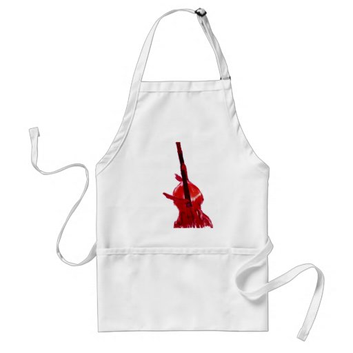 Upright orchestra bass image red version adult apron