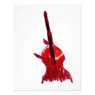 Upright orchestra bass image red version invite