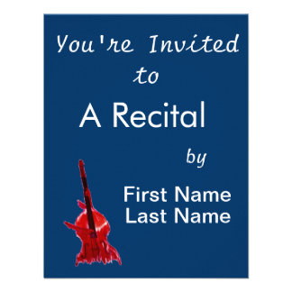 Upright orchestra bass image red version custom announcement