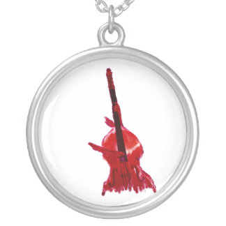Upright orchestra bass image red version jewelry