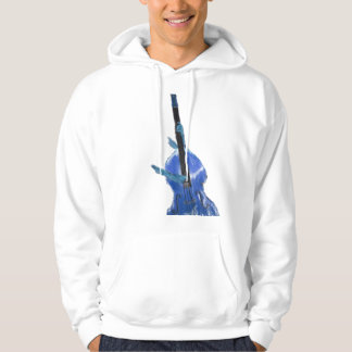 Upright orchestral acoustic double bass blue art hoodie