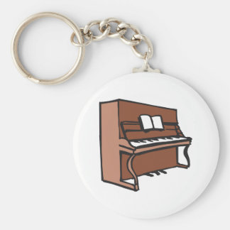 UPRIGHT PIANO BASIC ROUND BUTTON KEYCHAIN