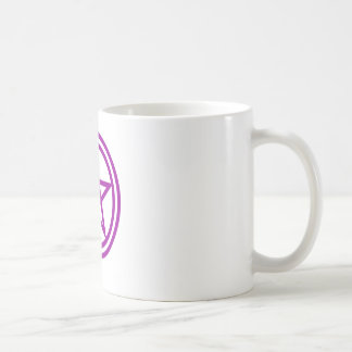 Upright Purple Pentagram Coffee Mug