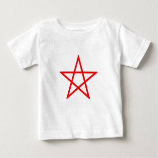 Upright Red Pentagram T Shirts
