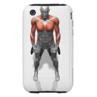 Upright Row Exercise Tough iPhone 3 Case