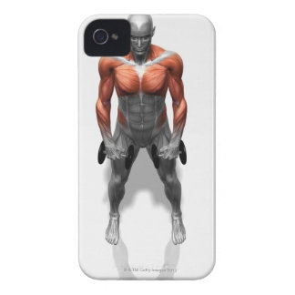 Upright Row Exercise iPhone 4 Cases