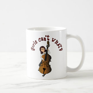 Upright String Double Bass Girl Coffee Mugs