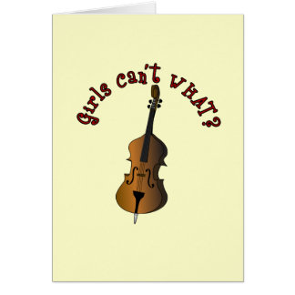 Upright String Double Bass Player Card