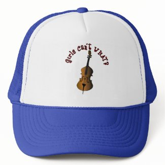 Upright String Double Bass Player Mesh Hat