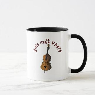 Upright String Double Bass Player Mug