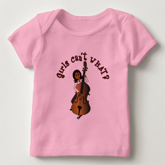 Upright String Double Bass Player Woman Baby T-Shirt