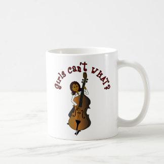 Upright String Double Bass Player Woman Coffee Mug