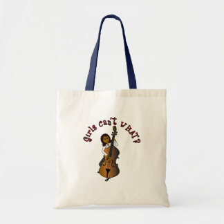 Upright String Double Bass Player Woman Tote Bag