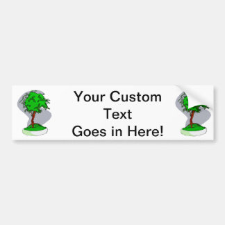 Upright Young Bonsai Graphic Image Design Car Bumper Sticker