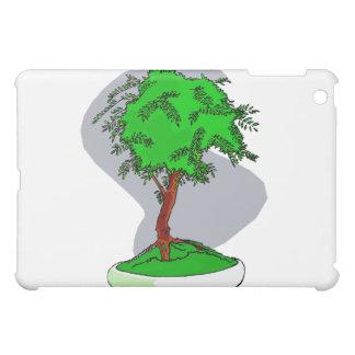 Upright Young Bonsai Graphic Image Design iPad Mini Covers
