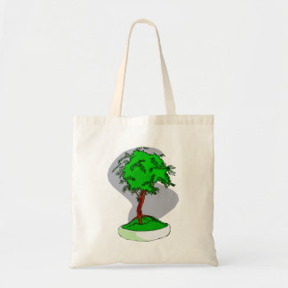 Upright Young Bonsai Graphic Image Design Tote Bag