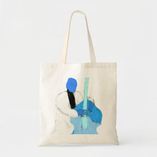 uprightbassplayerBlueWhiteversion Tote Bag