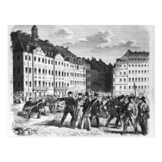 Uprising in Dresden Postcard
