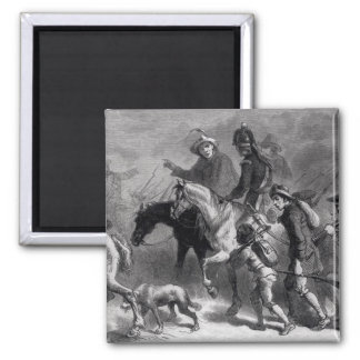 Uprising of the New England Yeomanry 2 Inch Square Magnet
