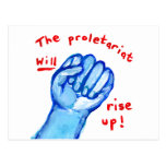 Uprising social justice proletariat WILL rise up Postcards
