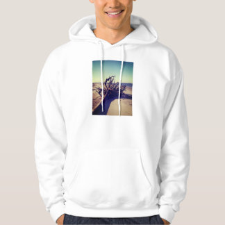 Uprooted Tree On The Beach Hoodie