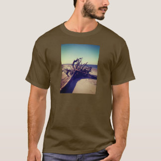 Uprooted Tree On The Beach T-Shirt