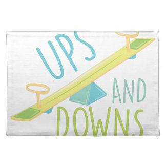 Ups And Downs Cloth Placemat