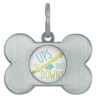 Ups And Downs Pet ID Tag