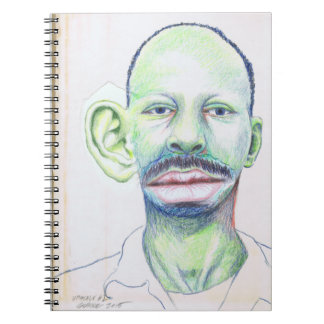 Upscale #1 Colored Pencil Art Portrait Man Big Ear Notebook