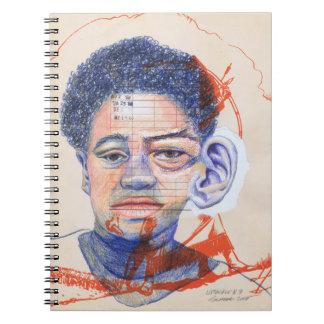 Upscale #3 Colored Pencil Art Portrait Woman Ear Notebook